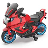 HOVER HEART Kids Electric Power Motorcycle 6V Ride On Bike Red