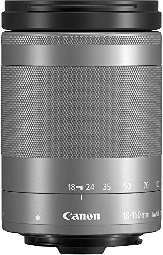 Canon Obiettivo per EOS M con Stabilizzatore d'Immagine a 4 Stop e STM, EF-M 18-150 mm f/3.5-6.3 IS STM, Argento