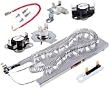 3387747 Dryer Heating Element & 279816 Thermostat Kit & 279973 3392519 Thermal cut-off Fuse Replacement Compatible with Kenmore, Samsung, Whirlpool, KitchenAid electric dryers and more