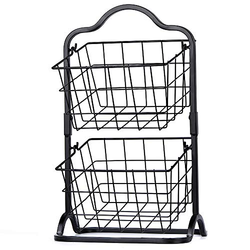Sunny Living 2 Tier Metal Fruit Basket,Hanging Storage Basket on...