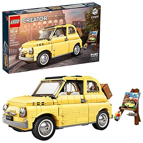 LEGO 10271 Fiat 500 Modellauto, Set für Teenager und Erwachsene, Spielzeugauto, Sammlerstück,...