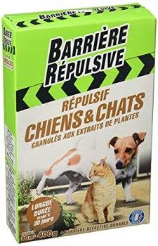 BARRIERE REPULSIVE Répulsif Chiens et Chats, Extérieur, Jusqu'à 80 m², 400 g, CHIENGRA4