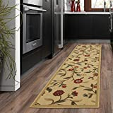 Silk Road Concepts Collection Floral Rugs, 20' x 59', Beige