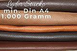 Lederreste Bastelleder A4 Lederstücke 1 Kg Braun (Verschiedene Töne), Alle Stücke Mind. DIN A4 - Zum Basteln und Nähen