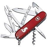 Victorinox Taschenmesser Angler (18 Funktionen, Klinge, Fischentschupper, Kombizange, Angellöser, Drahtschneider) rot