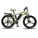 Vélos électriques pour Adultes, en Alliage de magnésium eBikes Vélos Tout Terrain, 26' 36V 250W 13Ah Amovible au Lithium-ION pour Hommes Montagne Ebike (Yellow, 250W)
