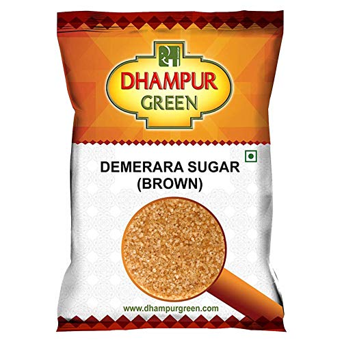 Dhampure Speciality Natural Brown Sugar Crystal, Demerara Golden Brown Sugarcane Semi Crystaline Mineral Rich Pure Molasses Sugar for Tea Coffee Baking Chemical Free No Added Sulphur, 1Kg