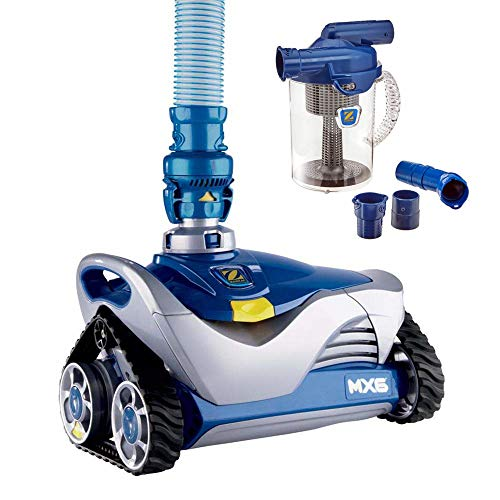 Zodiac Mx6 Automatic Suction Side Pool Cleaner Vacuum with Zodiac Cyclonic Leaf Canister