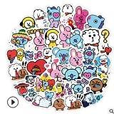 Etiqueta engomada de la cuenta de la mano de la exploración del universo del anime de la historieta, emoji del teléfono del casco, etiqueta engomada de la papelería de los niños, 48pcs impermeable