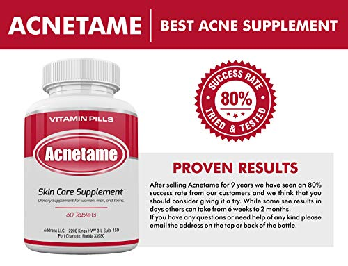 Acnetame- Vitamin Supplements for Acne Treatment, 60 Natural Pills 3
