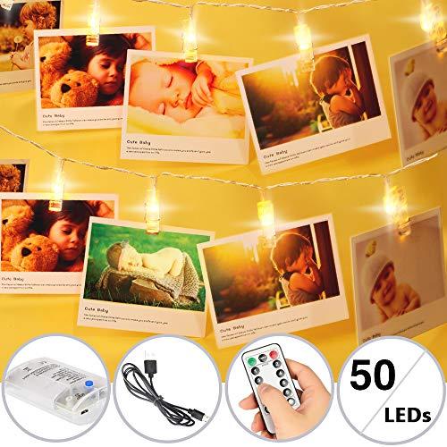 Luce LED Clip catena foto luce 5M/50LED di catena scintilla luci batteria/Clip a LED luce USB...