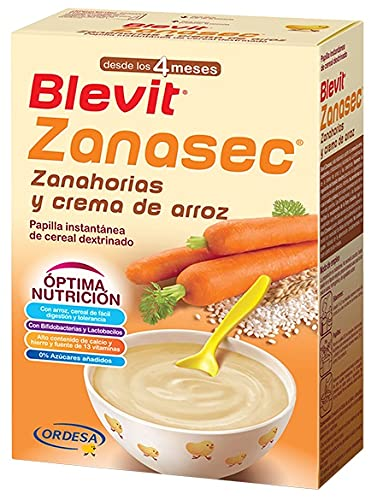 Blevit Zanasec - Papilla de Cereales para bebé con Crema de