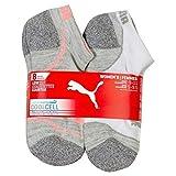 Puma Ladies 8-pair No Show Athletic Socks for Women (Gray, Blue, Pink)