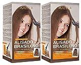 Kativa - Kit de lissage brésilien à la kératine et à l'huile d'argan...
