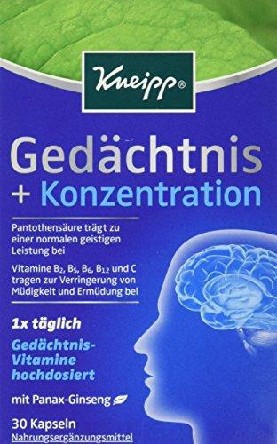 Kneipp Gedächtnis + Konzentration, 30 Kapseln (1 x 14.9 g)