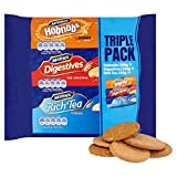 All of your favorite British Mcvities biscuits in one pack! 200g Rich Tea 250g Digestives 300g Hobnobs This pack will keep everyone happy
