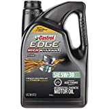 Castrol 03128C EDGE High Mileage 5W-30 Advanced Full Synthetic Motor Oil, 5 quart,Black