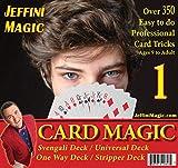 Jeffini's Card Magic kit - Magic Tricks for Adults & Teens, Includes 4 Trick Card Decks : Svengali Deck, Universal Deck, Stripper Deck, One-Way Deck, 4 Card Trick Books and Over 350 Card Tricks