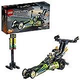 LEGO Technic Dragster Trasformabile inHotRod, Set da Costruzione2in1con Motore Pull-Back,Collezione Veicoli DragRacer, 42103