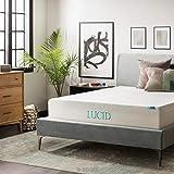 LUCID 12 Inch Gel Memory Foam Mattress - Triple-Layer - Ventilated Gel Foam - CertiPUR-US Certified - 10-Year Warranty - Queen
