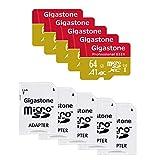 Gigastone Lot de 5 Carte Mémoire Micro SD XC Série Professionel 64 Go +...