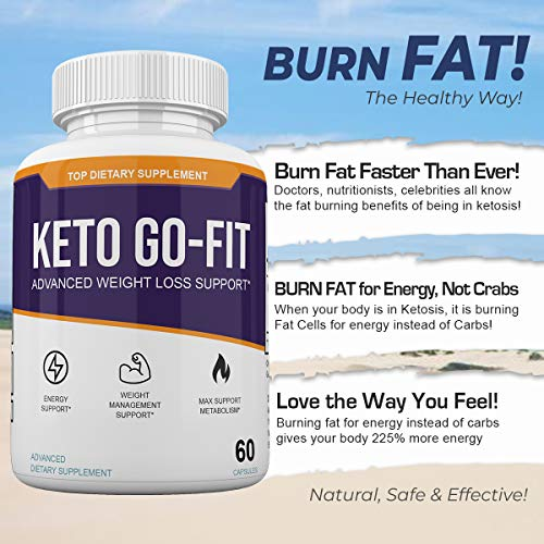 Keto Go-Fit - Advanced Weight Loss Support* - 120 Capsules - 60 Day Supply 6