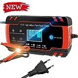 Directtyteam Chargeur de Batterie Intelligent Portable 8A 12V/4A 24V LCD...
