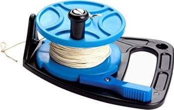 ScubaMax 270 Foot Dive Reel Blue with Thumb Stopper