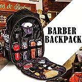 Mochila de barbero portátil-estuche de viaje de estilista de pelo, bolsa de herramientas de maquillaje mochila de viaje multifunción organizador de cosméticos caja de almacenamiento (black)