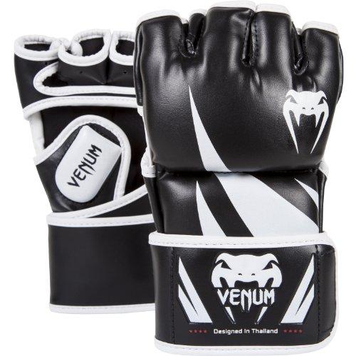 VENUM Challenger, Guanti MMA Unisex, Nero/Bianco, M