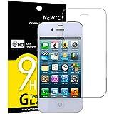 NEW'C Verre Trempé Compatible avec iPhone 4 et iPhone 4S, Film Protection...