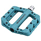 BONMIXC MTB Pedals Lightweight Composite Bicycle Pedals Sealed Bearing 9/16 Thread Flat Bike Pedals Blue