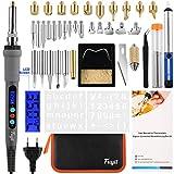 Fuyit 3 en 1 Pyrograveur sur Bois avec LCD Ecran, 42 Pcs Kit de Pyrograveur...