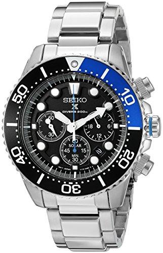 Seiko Reloj Análogo clásico para Hombre de Energía Solar con Correa en Acero Inoxidable SSC017P1