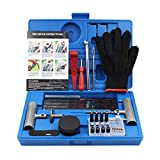 Tire Repair Kit, 63pcs TirePatch Kit with Plugs to Fix Punctures and Plug Flatsfor Car, Motorcycle,Truck,Tractor, Trailer, RV,ATV, ARB, SUV