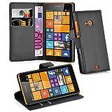 Cadorabo Coque pour Nokia Lumia 535 en Noir DE Jais - Housse Protection...