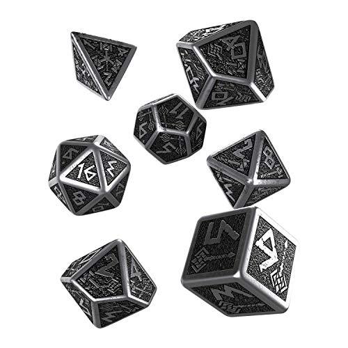 Q-Workshop Metal Dwarven 7 Polyhedral RPG Ornamented Dice Set