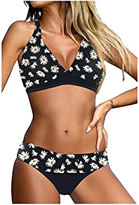 Women's Bikini Swimsuits Material: Womens Triangle Bikini Swimsuits is Made of High Quality , Fabric.Polyester+Spandex , Soft and Comfortable, Good Breathability and Durable.You can Really Know From it's Hand Feeling and Visual Sense. Superior in Mat...