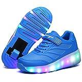 srder-Clignotante Chaussures à roulettes, 7 Colorés LED Roller Chaussures de Skateboard Baskets Lumineuse avec Roues Sport Multisports Gymnastique Mode pour Garçons et Filles Enfants