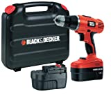 BLACK+DECKER EPC188BK 18 V NiCd Hammer Drill (2 Batteries and Kitbox)
