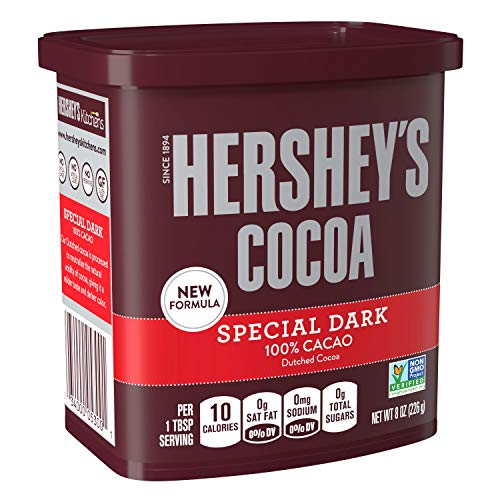 HERSHEY'S SPECIAL DARK Baking Cocoa (Dutched Cocoa), Gluten Free, 8 Ounce, Pack of 6