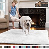Gorilla Grip Original Faux-Chinchilla Rug, 4x6 Feet, Super Soft and Cozy High Pile Washable Carpet, Modern Rugs for Floor, Luxury Shaggy Carpets for Floors, Bed and Living Room, White