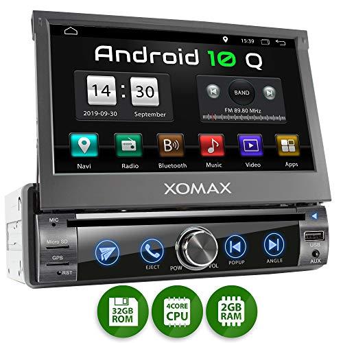 XOMAX XM-DA759 Autoradio mit Android 10, QuadCore, 2GB RAM, 32GB ROM, GPS Navigation, DVD, CD I...