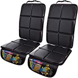 Gimars 2 Pack XL 5-Layer Thickest EPE Padding Car Seat Protector for Child Car Seat, Waterproof seat Protectors with 600D Fabric,Nonslip Backing,Storage Pockets for SUV, Sedan, Truck, Leather Seats