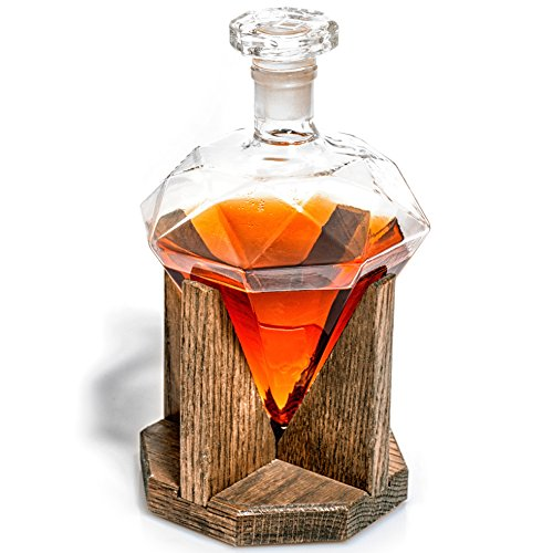 Whiskey Decanter - Newlywed Gift Diamond Decanters for...