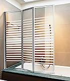 Giava Pare-baignoire à 3volets, avec profils en aluminium et verre...