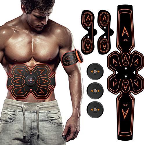 ZHENROG Electroestimulador Muscular Abdominales, Masajeador Eléctrico...