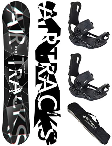 AIRTRACKS Snowboard Set/Pack/Planche REFRACTIONS Game Wide 165CM+Fixations Master L+SB Sac/Neuf