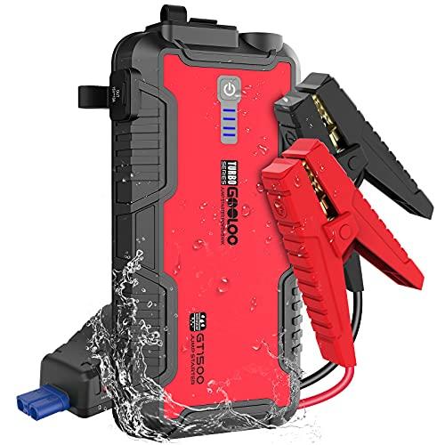 GOOLOO Jump Starter Battery Pack - 1500A Peak Jump Box,Water-Resistant...