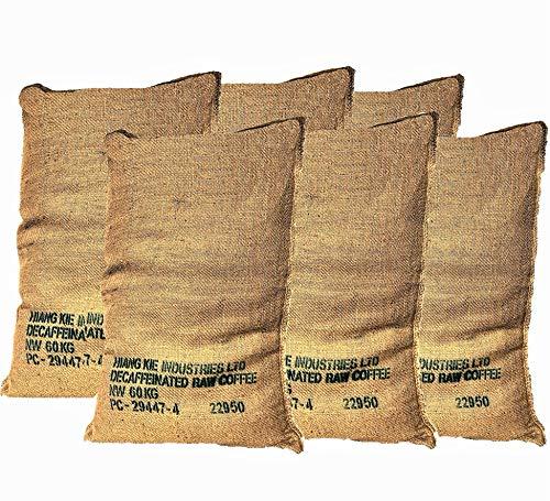 Sacos de Yute Grande de Café Reciclados – Pack de 6 Unida
